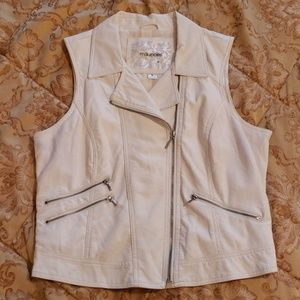 Maurices Faux Leather Moto-Style Vest